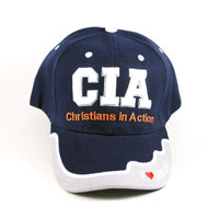 Бейсболка CIA - Christians In Action Синяя