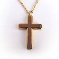 Украшение на шею Крест с вставкой из дерева - Украшения на шею и крестики - HolyWear - христианская одежда и аксессуары