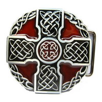Пряжка Celtic Cross Red