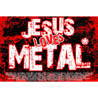 Плакат Jesus Loves Metal