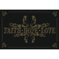 Плакат Faith Hope Love