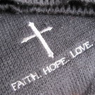 Шапка и шарф Faith Hope Love - черный